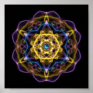 Vata Dosha que equilibra la mandala I de Ayurveda Póster