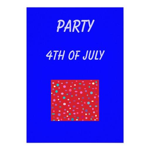 Vaya de fiesta el 4to de July>invitation Comunicados Personalizados