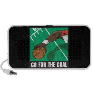 vaya para el momento del aterrizaje del fútbol de  iPhone altavoces