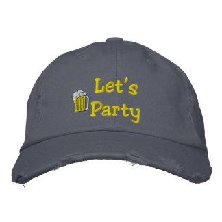 Vayamos de fiesta el gorra bordado
