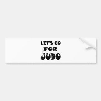 Vayamos para el judo pegatina para coche
