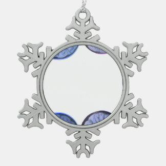 vea a través el marco azul del limón adorno