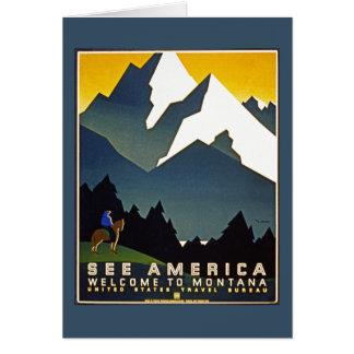 Vea América - recepción a Montana Tarjeta De Felicitación