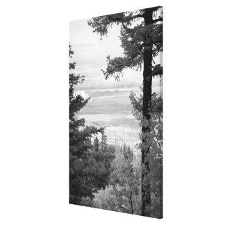 Vea el oeste del escudo de Sandia, montañas, Lona Envuelta Para Galerías