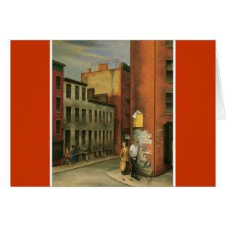 Vea en la calle de las cámaras, New York City C. 1 Tarjeta De Felicitación