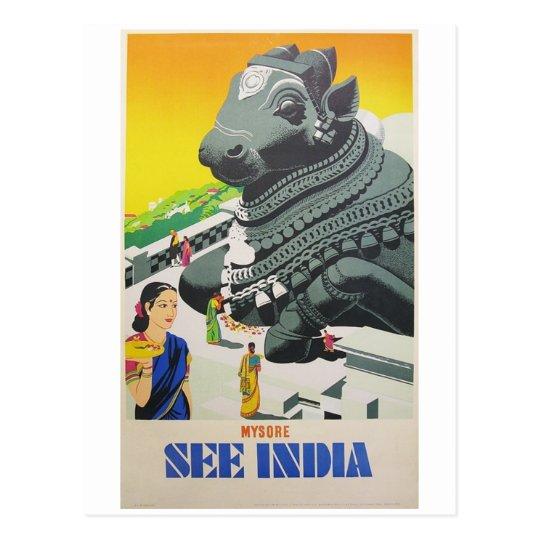 Vea la postal de la India del poster del vintage
