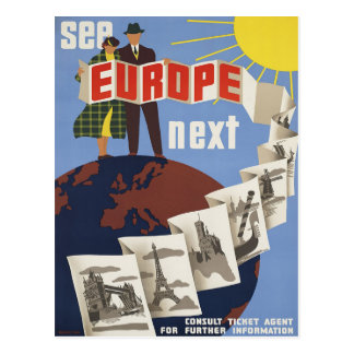 Vea la postal del poster del viaje del vintage de