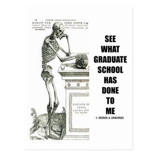 Vea lo que ha hecho la escuela a mí (esqueleto) postal