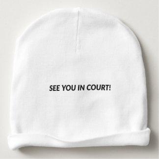 Véale ante el tribunal - gorrita tejida gorrito para bebe