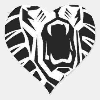 vecto principal del león pegatina en forma de corazón
