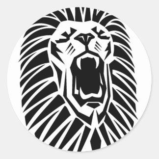 vecto principal del león pegatina redonda