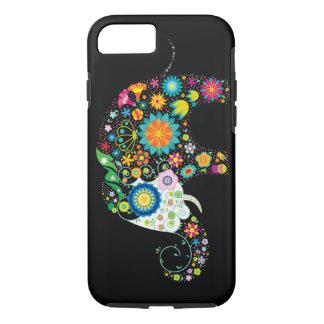 Vector animal floral del elefante lindo de la flor funda para iPhone 8/7