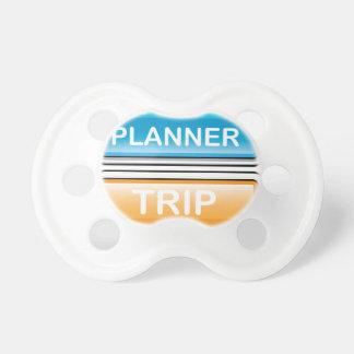 Vector brillante del botón del planificador del chupete de bebe