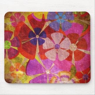 vector colorido de las flores del vintage alfombrilla de ratón