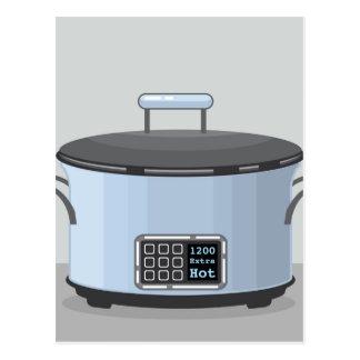 Vector de cocinar lento del pote del cántaro postal
