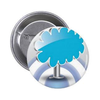 vector de la nube 3D Pin