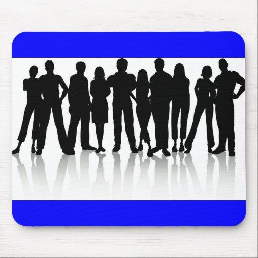 vector de los silhouetes del www_Garcya_us_human Tapete De Ratón