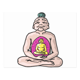 Vector del bosquejo de Buda Postal