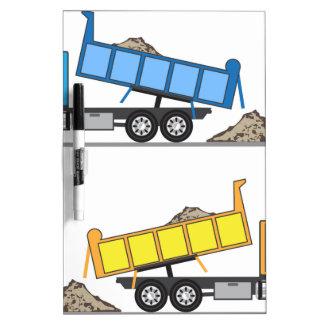 Vector del camión volquete pizarras blancas