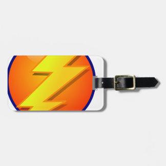 vector del icono de la energía del orbe del etiquetas para maletas