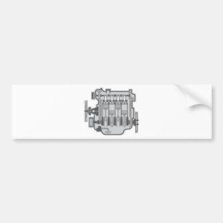 vector del motor de 4 cilindros pegatina para coche
