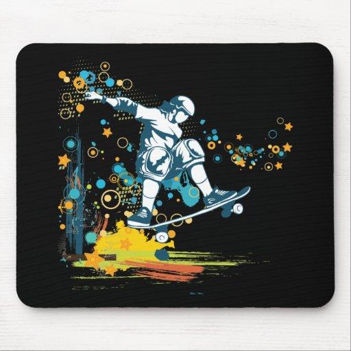 vector del skater de sk8er alfombrillas de ratones
