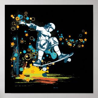 vector del skater de sk8er póster