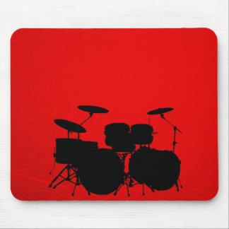 Vector del tambor rojo alfombrilla de ratón