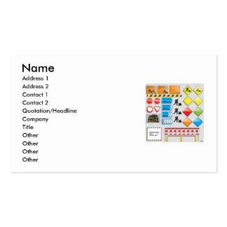 Vector - el sistema de la muestra de la construcci tarjetas de visita