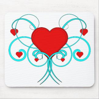 Vector Mousepad del Flourish de los corazones Alfombrilla De Ratón