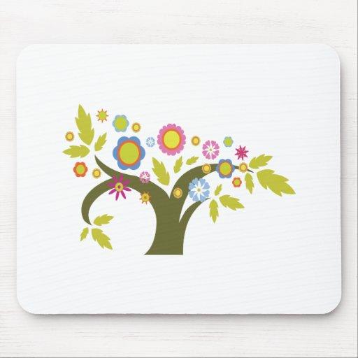 vector precioso del árbol del verano alfombrilla de raton