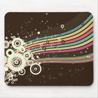 Vector retro enrrollado de los círculos (marrón) tapetes de ratón