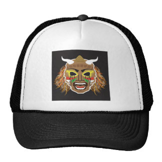 Vector tribal ritualista de la máscara gorro