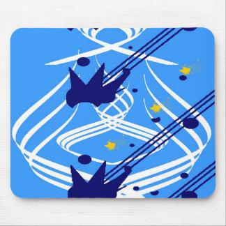 Vectores ligeros en los azules cielos Mousepad Alfombrillas De Ratón