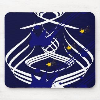 Vectores ligeros en Mousepad azul de medianoche Alfombrilla De Raton