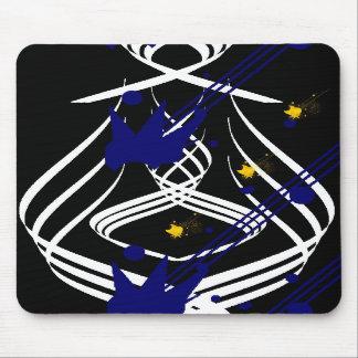 Vectores ligeros en un negro azabache Mousepad Alfombrilla De Ratones