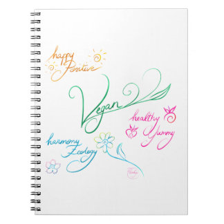 Vegan & happy lifestyle cuaderno