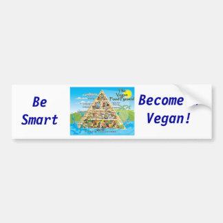 ¡vegan-pyramid-800x600, sea elegante, siente bien  pegatina para coche