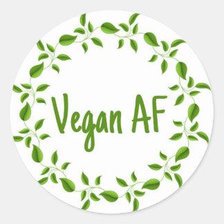 Vegano AF, pegatina del vegano, vegetariano de
