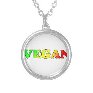 Vegano de Rasta Collar Plateado
