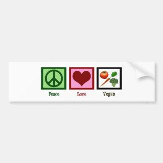 Vegano del amor de la paz pegatina para coche