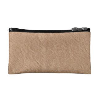 Vegano elegante minimalista superficial de cuero bolso de maquillaje