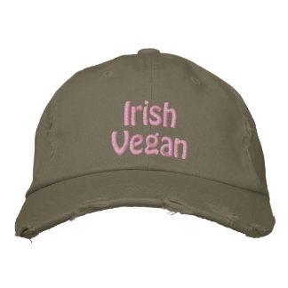 Vegano irlandés, el día de St Patrick, verde Gorra De Béisbol