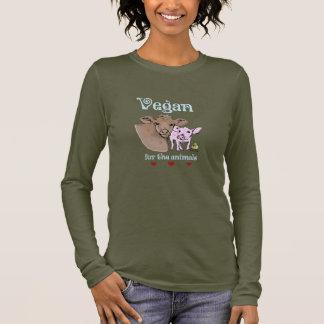 Vegano para la camisa de los animales