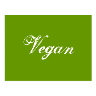 Vegano. Verde. Lema. Personalizado Postal
