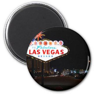 Vegas Signo Noche Imán Redondo 5 Cm