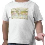 Vegetación del mundo y mapa de corrientes de camiseta