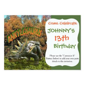 Vegetación y volcán del parque del dinosaurio del invitación 12,7 x 17,8 cm