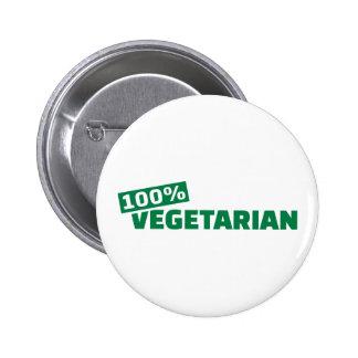 Vegetariano del 100% pin