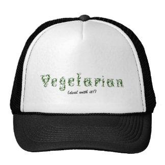 ¡Vegetariano - trato con él! Gorro De Camionero